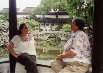Jan Tritten and Naoli Vinaver at Guangzhou, China in 2002